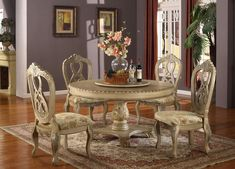 Ashley Antique White Round Table Set Dining Room Chairs Tables