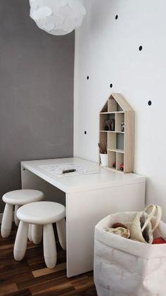 mommo design: IKEA HACKS FOR KIDS - Stuva bench as desk by katharine