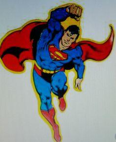 Super Man Die Cut Tin Sign Office Home Decor Man Cave Garage Women Boy Girl