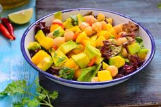 Mango, Avocado and Chickpea Salad Recipe