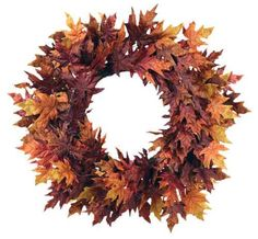 Fall Wreaths for Front Doors Autumn Maple Leaf Wreath (Artificial)