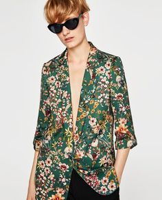 859938049cc298 Image 2 of PRINTER BLAZER from Zara Suits For Women
