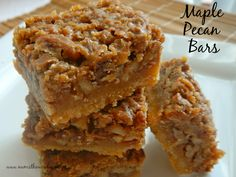 These bars are similar to pecan pie on crack. The real maple syrup adds a burst of flavor to them that make them irresistible!