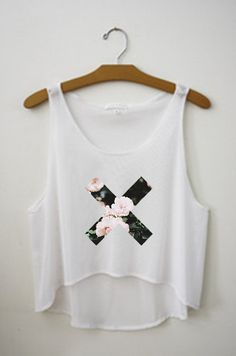 Flower Xx Rose Print Tumblr Crop Top by TopsByTai on Etsy