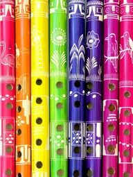 Colorful flutes!