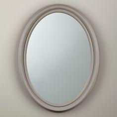 Buy John Lewis Croft Collection Oval Medium Mirror, 80 x 60cm, Grey Online at johnlewis.com