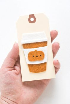 Pumpkin Spice Latte Applique | Attention all quilters: Can you handle this applique cuteness?!