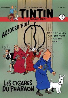 Yves Rodier vient de s'amuser à imaginer une couverture du Journal Tintin