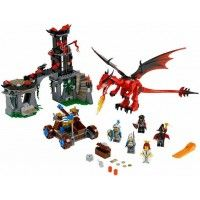 LEGO Kingdoms - Dragon Mountain and thousands more of the very best toys at Fat Brain Toys. Scale the mountain, defeat the dragon, rescue the princess and recover the treasure from the clutches of Dragon Kingdom with the LEGO K. Lego Toys, Lego Duplo, Lego Castle Instructions, Chateau Lego, Lego Ritter, Lego Kingdoms, Lego Dragon, Castle Series, Lego Knights