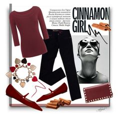 """Hot Color Trend: Oxblood"" by gabygrach ❤ liked on Polyvore featuring Tabitha Simmons, GUESS, Valentino, Paolo, Burberry, oxblood, fashionset, polyvoreeditorial and polyvorecontest"