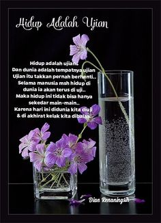 Cinta Quotes, Self Reminder, Islamic Quotes, Quran, Religion, Faith, Purple, Purple Stuff, Religious Education