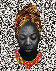 A beautiful collage of Black Icon Nina Simone, artist: Makeba 'KEEBS' Rainey Nina Simone, Collages, Collage Art, Tree Sketches, By Any Means Necessary, Beautiful Collage, Africa Art, African American Art, Black Artists