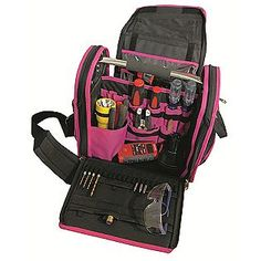 For my scissors, markers, things that punch Pink Wide Open Tool Bag- The Original Pink Box Road Trip With Dog, Hobby Tools, Geek Gadgets, Fishing Girls, Screwdriver Set, Everything Pink, Tool Set, My Favorite Color, Pretty In Pink