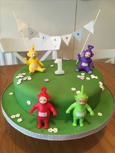 Teletubbies cake for my son's first birthday.