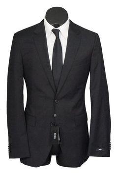 32261ac144fa New Hugo Boss The James4 Sharp6 2 Btn 100S Wool Slim Fit Suit Black 38R  (eBay Link)