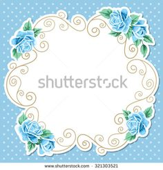 Polka dot background with hand draw floral wreath. Vintage roses. Shabby chic vector illustration. Invitation, greeting card template. Place for text - stock vector