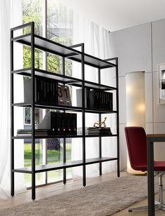 BARTOLO- schwarzes Bücherregal von Quinti bei designfund.de kaufen.