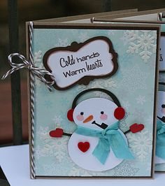 Cricut- Winter Frolic.....love brown and blue