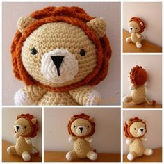 Crochet Toys For Boys Patron peluche Lion Retro au crochet (Tuto doudou lion) - Lion Crochet, Crochet For Boys, Cute Crochet, Crochet Animals, Beautiful Crochet, Crochet Dolls, Easy Crochet, Knit Crochet, Crochet Hats