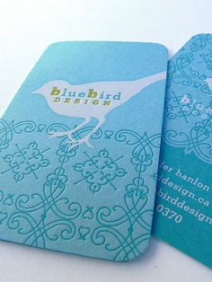 mandate press letterpress business card - love the layering and the success of the white ink on a colored paper