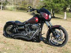 2013 Harley-Davidson® FXDWG Dyna® Wide Glide (Black/ Cherry Red ...