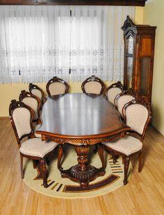 Da timpul inapoi si bucara-te de prezenta celor dragi intr-o sufragerie cu caracter si charm. Dinning Set, Dining Table, Modern, Furniture, Design, Home Decor, Trendy Tree, Decoration Home, Room Decor