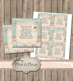 Rustic Lace Bring a Book Instead of a Card Mint by mimiandmouse Baby Shower Invitations, Babyshower Invites, Rustic Books, Price Is Right Games, Circle Logos, All Fonts, Woodland Animals, As You Like, Digital Image
