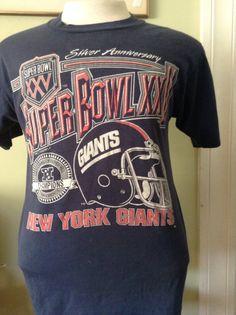 3c5ddcc5c Vintage Super Bowl XXV New York Giants Tshirt by DeNuevoVintage