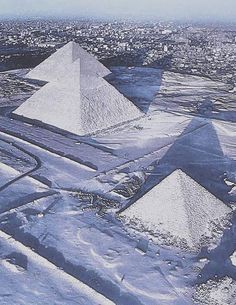 A RARE SIGHT : FOR THE FIRST TIME IN OVER 100 YEARS IT SNOWED IN EGYPT..........PARTAGE OF ANCIENT EXPLORERS......ON FACEBOOK..........