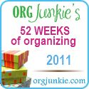52 Weeks of organizing. So what if I didn't start on January 1st! #organization