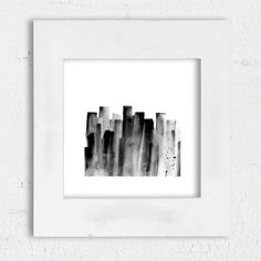 Modern minimalist black and white abstract art by DYAStudio