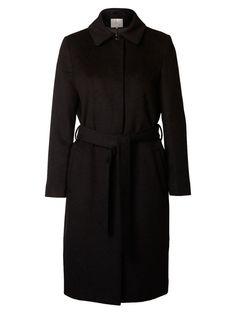 WOOL - COAT, Black, large
