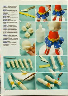 Pasta Flexible, Clay Tutorials, Cold Porcelain, Fondant, Cake Toppers, Cake Decorating, Christmas Crafts, Polymer Clay, Album