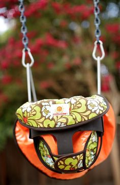 The Cool Wazoo converts from a shopping cart cover to a high chair cover to a swing cover to a changing pad. And it all fits in a diaper bag.