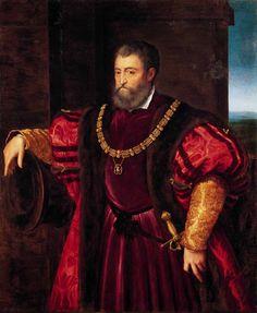 Alfonso Id Este by Bastia nino co piaDa Tiziano. Alfonso d'Este by Dosso Dossi (1490-1542)