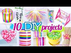 10 DIY Projects With Drinking Straws – 10 New Amazing Drinking Straw Crafts and Life Hacks - YouTube