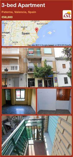 3-bed Apartment in Paterna, Valencia, Spain ►€58,800 #PropertyForSaleInSpain