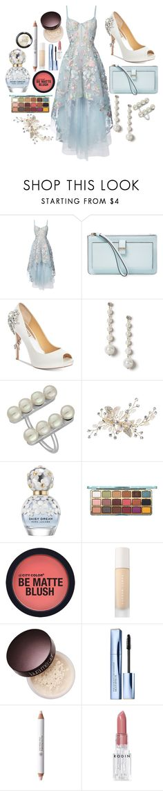 """""""perfect -ed sheeran"""" by that-fashion-geek ❤ liked on Polyvore featuring Notte by Marchesa, Kate Spade, Badgley Mischka, Miss Selfridge, Majorica, Marc Jacobs, Puma, Laura Mercier, Estée Lauder and Rouge Bunny Rouge"""
