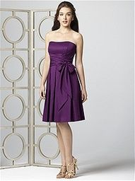 Brides maid dress in purple