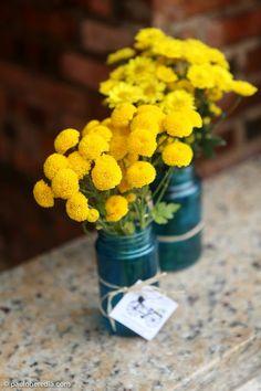 Para te inspirar   Decoração em Amarelo e Azul