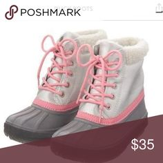 Pink and Grey Girls' Duck Boots Brand new with tags snow boots. Very sturdy and adorable. Waterproof! Shoes Boots