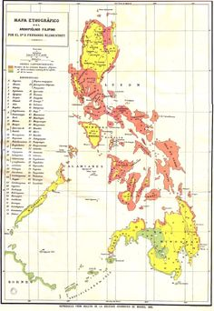 """mapsontheweb: """" Spanish ethnographic map of the Philippines Read More """""""