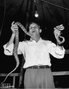 Snake handlers, faith healers 1940's