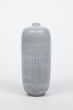 White Scribe Bottle Vase by Heather Rosenman |