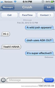 awesome funny text message Pokemon date