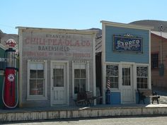 An old gold mining town in the Mojave Desert of Kern County, California