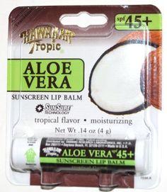 Hawaiian Tropic Aloe Vera 45+ SPF Sunscreen Lip Balm Tropical Flavor (1 Each) . $3.48