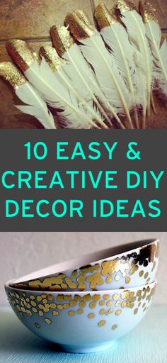 10 unique & simple #DIY decor ideas
