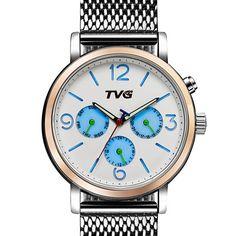 Sale 17% (24.99$) - TVG 169 Week Day Display Alloy Case Stainless Steel Strap Casual Men Quartz Wrsit Watch
