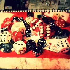 Dicedicedicedice I hate you :/ This took way too long... It still needs a bit of cleaning up but you know what screw it I'm ridiculously far behind because I take time with my pieces and have other subjects to focus on as well....I'm drawing an xbox controller  right now so look forward to that. #dice #poker #pokernight #pokerdice #pokerplayer #katebrinkworth #GCSEart #GCSEartwork #teenart #teenartist #teenartwork #teenageart #Cards #gamblingproblems #vegasnights #vegas #casinonight